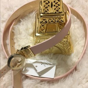 Kate Spade New York Pink and Gold Reversible Belt